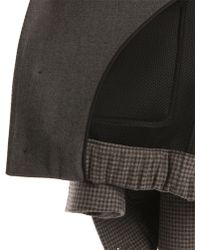 Carven Grey Jacket With Neoprene Lining gray - Lyst