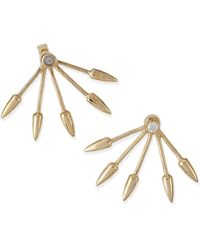 Pamela Love Gold Plate Five-spike Stud Earrings with Diamond - Lyst
