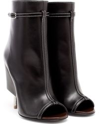Givenchy Peep-Toe Ankle Boots - Lyst