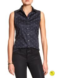 Banana Republic Factory Non-Iron Sleeveless Shirt - Lyst