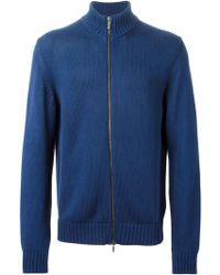 Etro Zipped Cardigan blue - Lyst