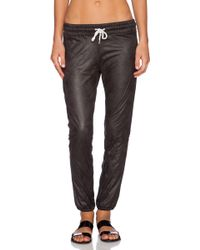Monrow Perforated Leather Sweatpant - Lyst
