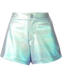 Manish Arora Iridescent Shorts green - Lyst