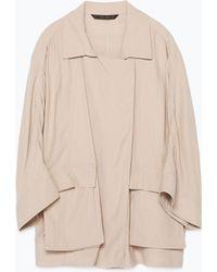 Zara Safari Jacket - Lyst