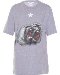 Givenchy - Twin Monkeys-print T-shirt - Lyst