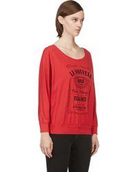 Pierre Balmain Red Le Nouveau Print T_shirt - Lyst