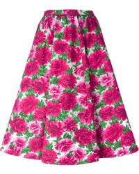 Michael Kors Floral Print Skirt - Lyst