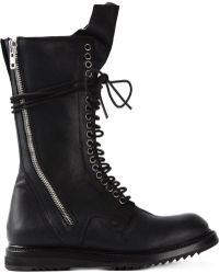 Rick Owens Military Boots - Lyst