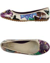 Car Shoe Purple Ballet Flats - Lyst