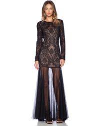 BCBGMAXAZRIA Black Tatiana Dress - Lyst
