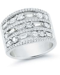 Ivanka Trump - Mixed Cut Diamond Wide Band Ring - Lyst