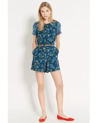 Oasis Patched Floral Playsuit - Lyst