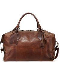 Frye Logan Mens Leather Overnight Bag - Lyst