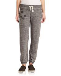 Monrow Sunset-Print Drawstring Sweatpants gray - Lyst