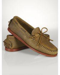 Ralph Lauren Leather Tyneside Moccasin - Lyst
