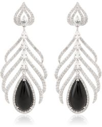Elise Dray Feather Of Peacock Earrings - Lyst