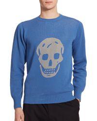 Alexander McQueen Skull-Print Sweatshirt blue - Lyst