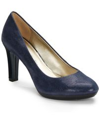 Ak Anne Klein Clemence Embossed Leather Pumps - Lyst