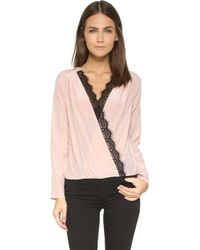 Liv - Katie Crossover Top - Lyst