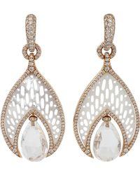 Inbar - Quartz Drop Mother Of Pearl Earrings - Lyst