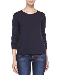 J Brand Selita Crewneck Sweater with Contrast Back - Lyst