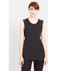 Ann Demeulemeester Double Layer Silk Tank - Lyst