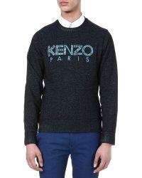 Kenzo Logo Sweatshirt Black - Lyst