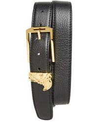 Versace Medusa Leather Belt - Lyst