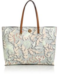 Tory Burch Kerrington Abstract-Patterned Coated Canvas Tote multicolor - Lyst