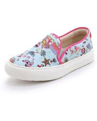 Markus Lupfer - Printed Slip On Sneakers - Pale Blue Sticker Print - Lyst