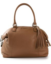 Moschino Slouchy Pleated Shoulder Bag Brown 62