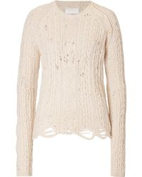 Zadig & Voltaire Distressed Wool Pullover - Lyst