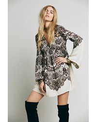 Free People Perfectly Paisley Dress - Lyst