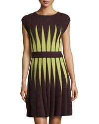 M Missoni Two-Tone Knit Dress - Lyst