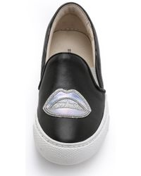 Markus Lupfer - Kiss Slip On Sneakers - Black Hologram Lips - Lyst