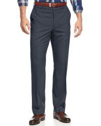 Michael Kors Michael Blue Flatfront Dress Pants - Lyst