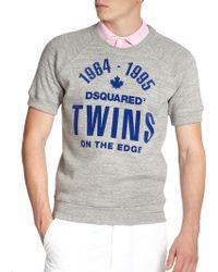 DSquared² Twins On The Edge Sweatshirt Tee - Lyst