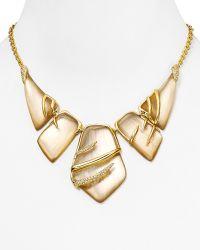 """Alexis Bittar Lucite Crystal Embellished Sabre Bib Necklace, 16"""" - Lyst"""