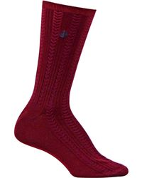 Ralph Lauren Embroidered Herringbone Trouser Socks - Lyst