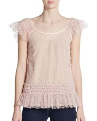 RED Valentino Polka Dot Tulle Top - Lyst