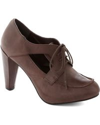 ModCloth Cocoa Your Own Way Heel brown - Lyst