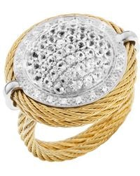 Charriol Womens Classique White 18k Gold and Gold-tone Ss Diamond 09tcw Ring - Lyst