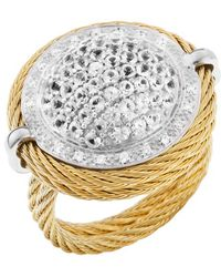 Charriol Womens Classique White 18k Gold and Gold-tone Ss Diamond 09tcw Ring gold - Lyst