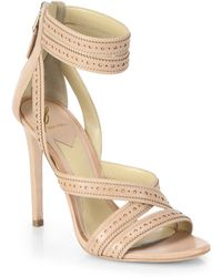 B Brian Atwood Lucila Anklestrap Leather Sandals - Lyst