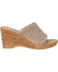 Onex For Jildor Bianca-2 Slide Sandal Natural Straw - Lyst
