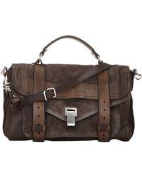 Proenza Schouler Ps1 Medium Shoulder Bag brown - Lyst