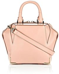 Alexander Wang Mini Skeletal Emile In Blush With Pale Gold - Lyst