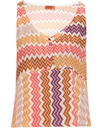 Missoni Zizag Multicoloured Cropped Top - Lyst