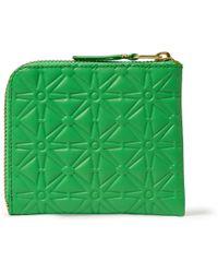 Comme Des Garçons Embossed Leather Wallet - Lyst