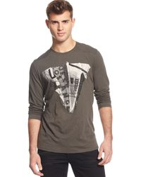 Guess Turn Up T-shirt - Lyst
